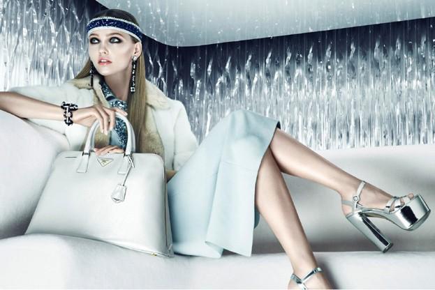 Prada's resort 2013 campaign starring Sasha Pivovarova
