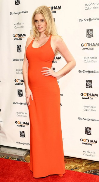 Lara Stone in Calvin Klein at the 22nd Annual Gotham Independent Film Awards