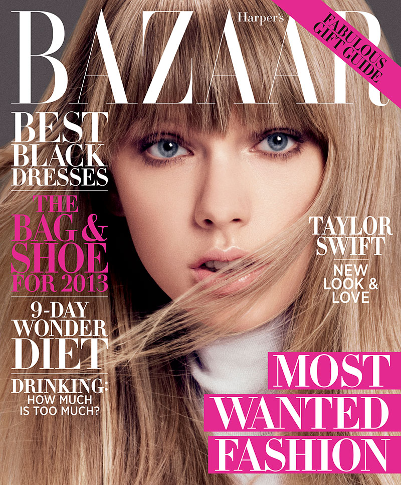 Taylor Swift on the December/January Cover of Harper's Bazaar US