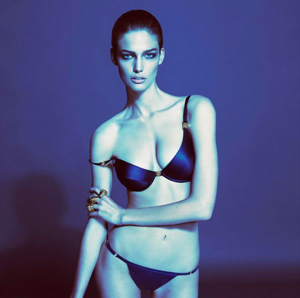 Versace Taps Kendra Spears for its Spring 2013 Underwear Collection