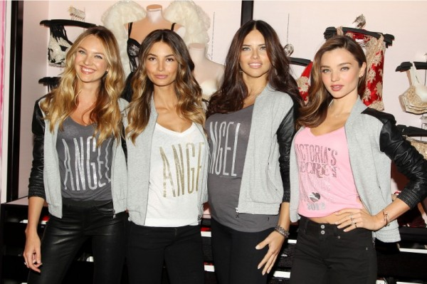 Candice Swanepoel, Lily Aldridge, Adriana Lima and Miranda Kerr at 2012 Victoria's Secret Event