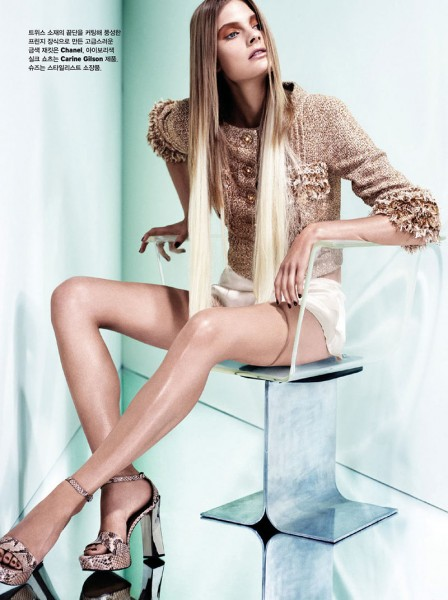 Constance Jablonski Stars in W Korea's December 2012 Cover Story by Catherine Servel