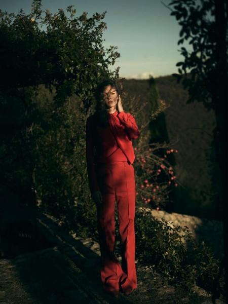 Elise Crombez Sports Resort Style for Vogue Netherlands December 2012, Shot by Annemarieke van Drimmelen