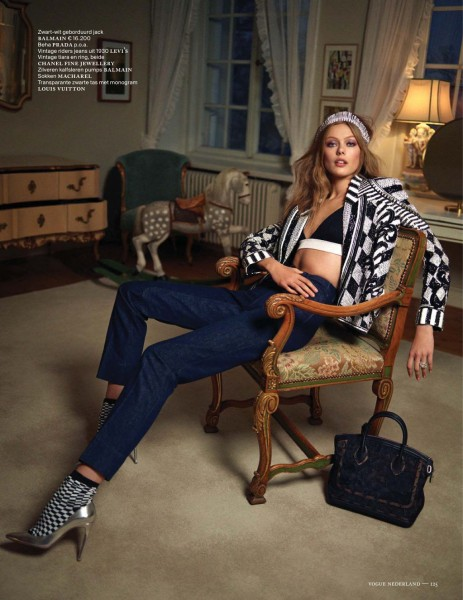Frida Gustavsson Dons Denim Style for the January/February Issue of Vogue Netherlands