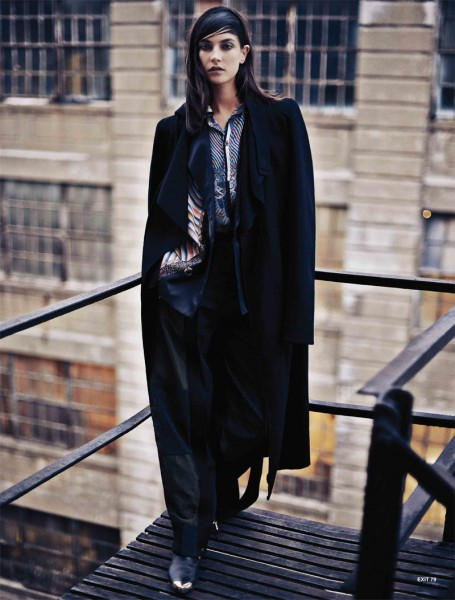 Jacquelyn Jablonski Dons Sleek Style for Exit Magazine F/W 2012