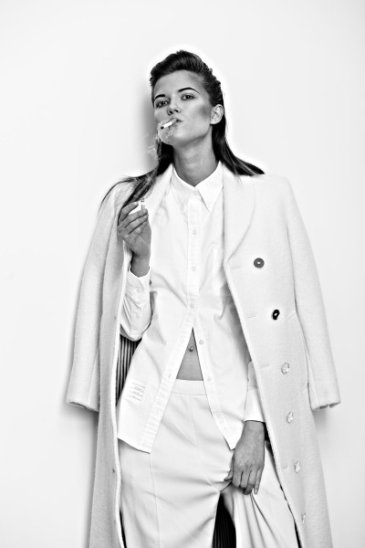 Kasia Struss Sports Menswear Looks for Hugh Lippe in Exit Magazine F/W 2012