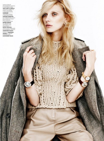 Olga Sherer Shimmers in Vogue Russia's January Issue by Emma Tempest