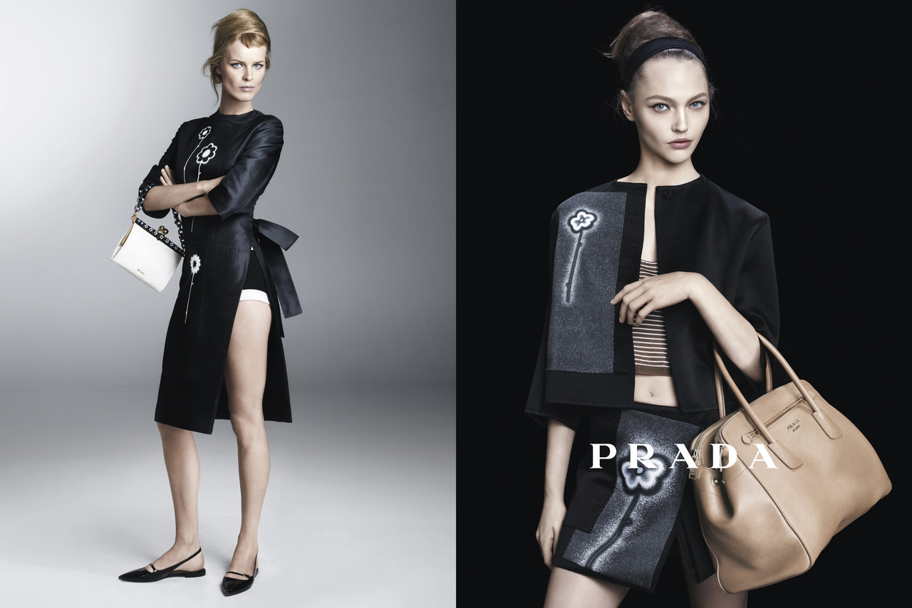 Sasha Pivovarova, Raquel Zimmermann, Eva Herzigova, Amber Valletta and Others Star in Prada's Spring 2013 Campaign by Steven Meisel