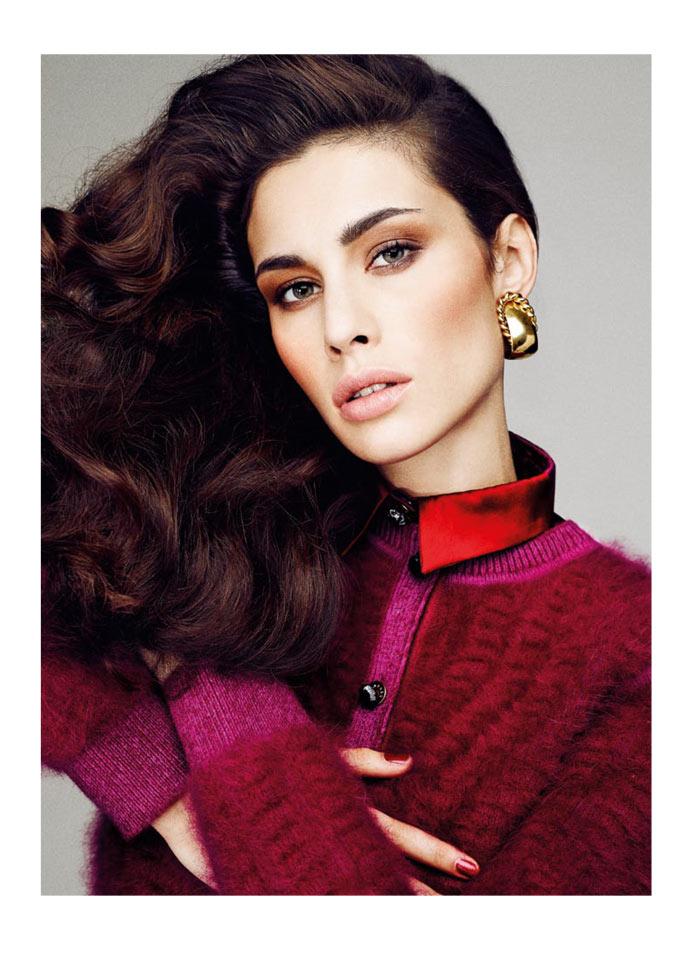 Marica Pellegrinelli Sports 80's Glam for S Moda