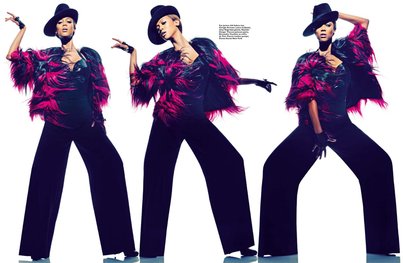 Tyra Banks Gets Fierce for Harper's Bazaar Singapore January 2013 Cover Shoot