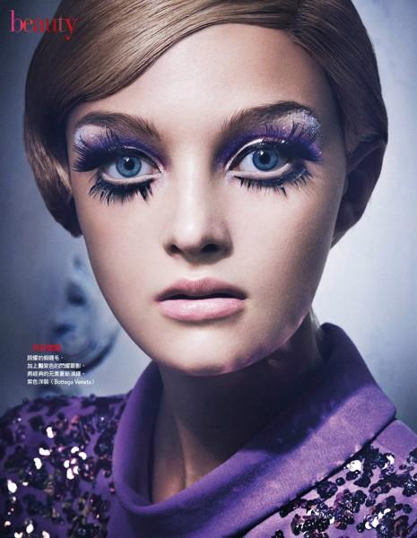 Tak Sugita Lenses 60s Inspired Beauty Looks for Vogue Taiwan
