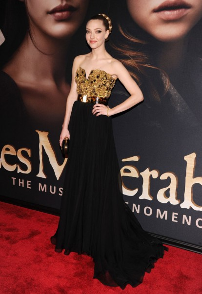 Amanda Seyfried in Alexander McQueen at the Les Misérables New York Premiere
