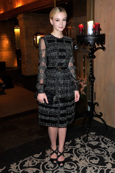 Carey Mulligan in Valentino at the ASMALLWORLD Gala Dinner