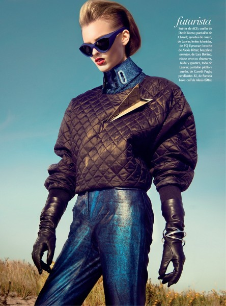 Georgina Stojilijkovic Gets Futuristic for Vogue Latin America December 2012 by Kevin Sinclair