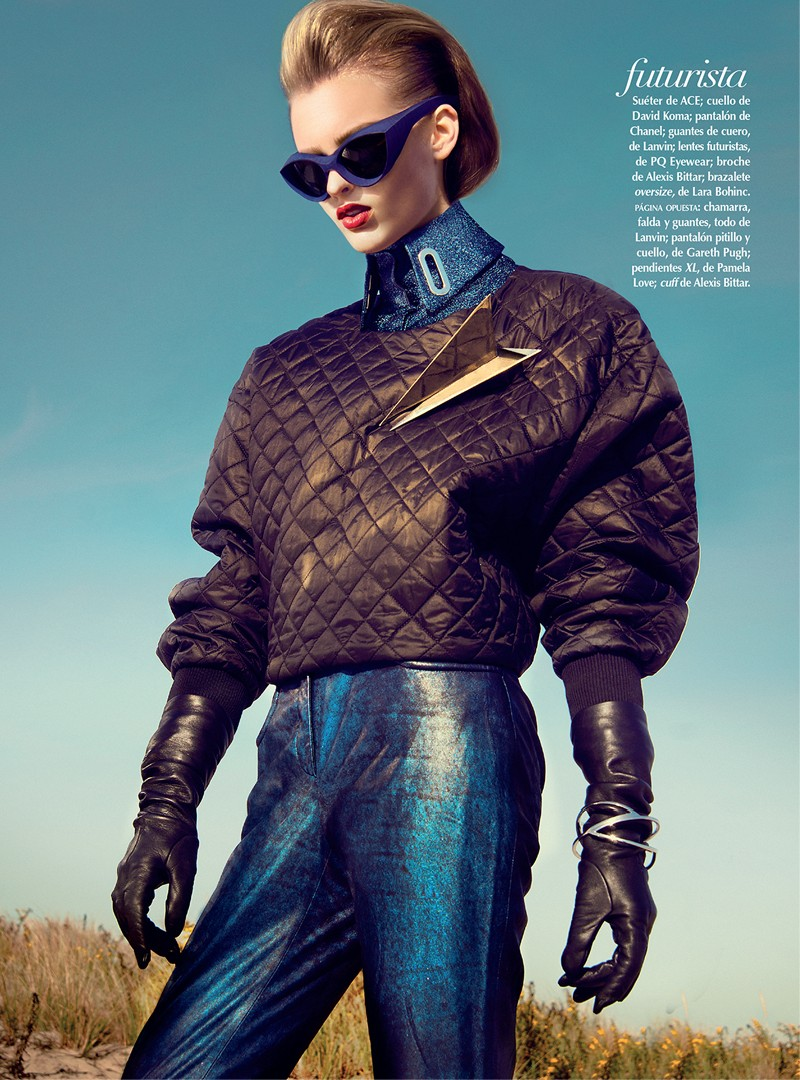 Georgina Stojilijkovic Gets Futuristic for Vogue Latin America December 2012 by Kevin Sinclair