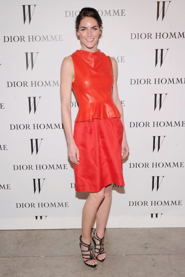 Hilary Rhoda in Dior at Dior Homme Boutique Opening