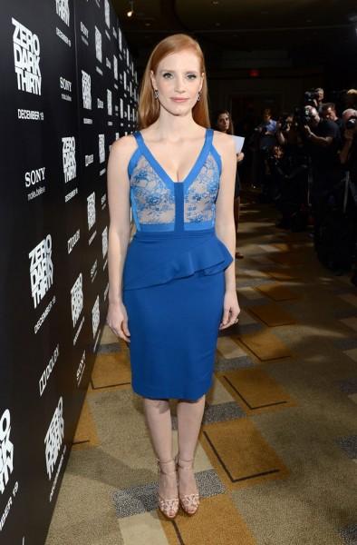 """Jessica Chastain in Elie Saab at """"Zero Dark Thirty"""" Los Angeles Premiere"""