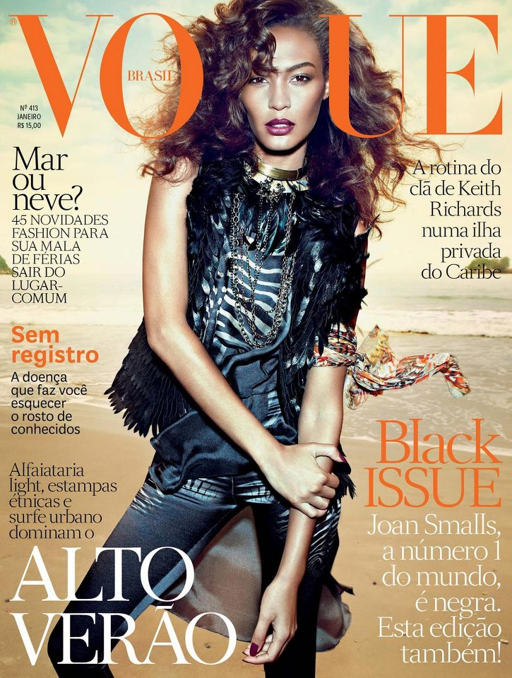 Joan Smalls Covers the January 2013 Issue of Vogue Brazil