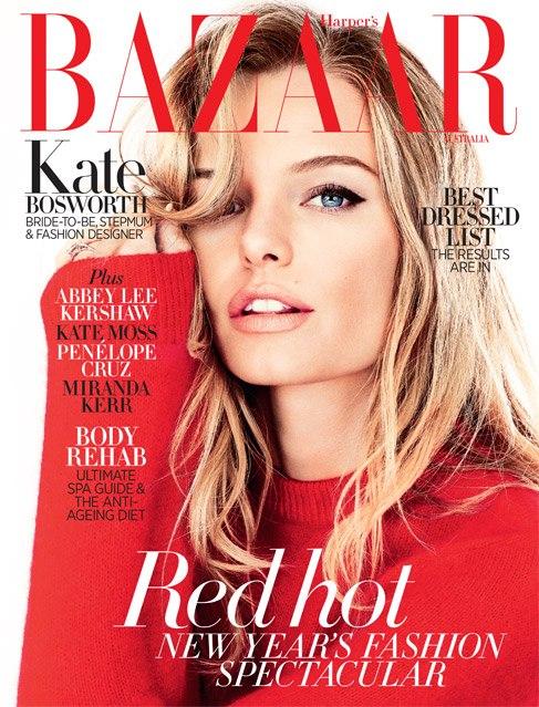 Kate Bosworth Poses for the January 2013 Cover of Harper's Bazaar Australia