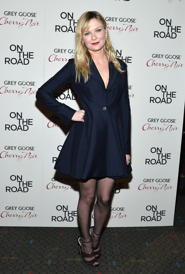 """Kirsten Dunst in Dior at the """"On the Road"""" New York Premiere"""