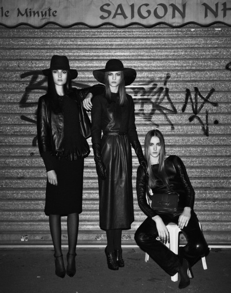 Josephine Le Tutour, Emeline Ghesquiere and Maja Milosavljevic Are Leather Girls for M Le Monde by Ward Ivan Rafik