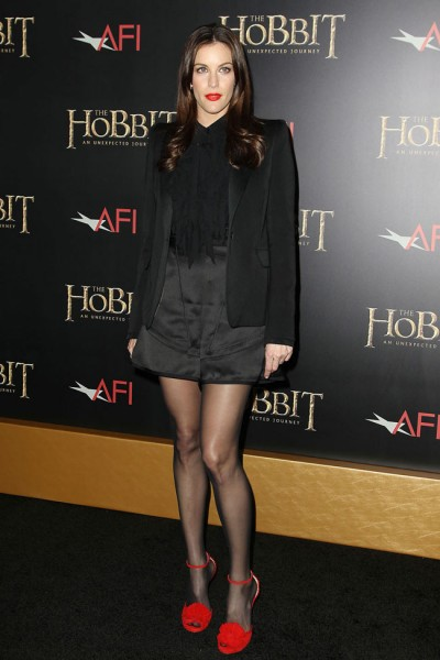 "Liv Tyler in Givenchy at ""The Hobbit: An Unexpected Journey"" New York Premiere"
