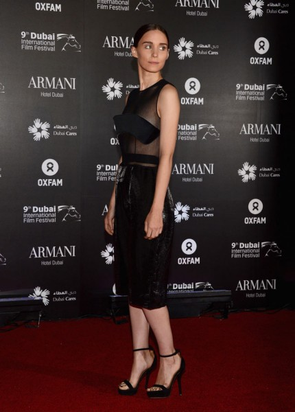 "Rooney Mara in Calvin Klein Collection at the 2012 ""One Night to Change Lives"" Gala"