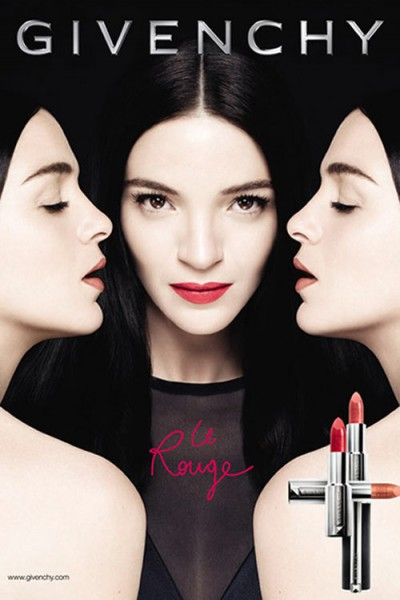 "Mariacarla Boscono Fronts Givenchy ""Le Rouge"" Makeup Campaign"
