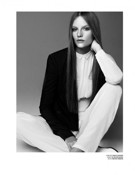 Meghan Collison and Sara Blomqvist Star in the Cover Shoot of Stockholm S/S/A/W 2013