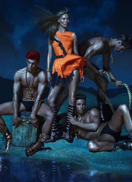 Versace Enlists Kate Moss, Daria Werbowy and Joan Smalls for its Spring 2013 Campaign