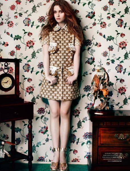 Alice Englert Dons Whimsical Resort Style for Flaunt Magazine