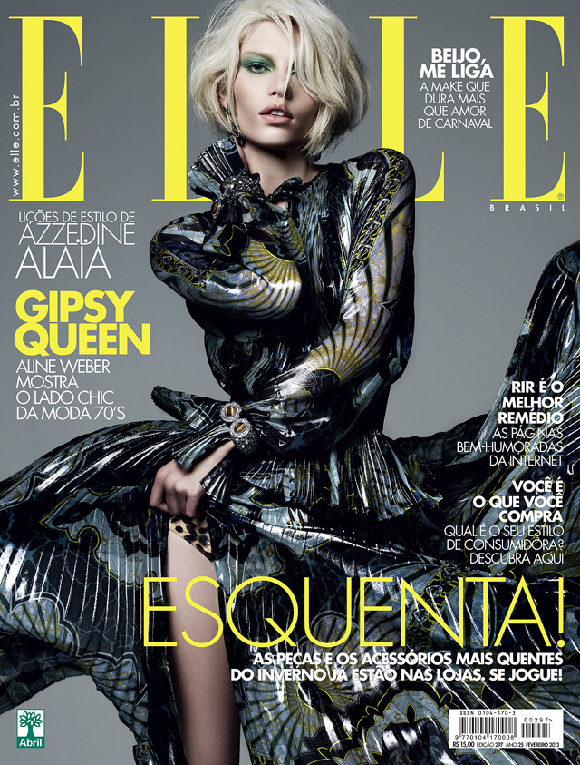 Aline Weber is Boho Glam in Emilio Pucci for Elle Brazil's February 2013 Cover