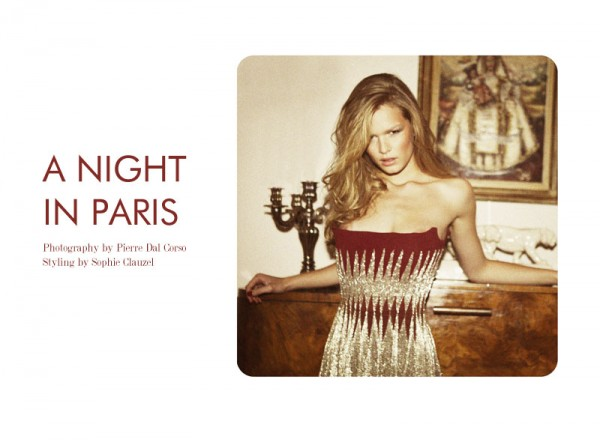 "Anna Ewers by Pierre Dal Corso in ""A Night in Paris"" for Fashion Gone Rogue"