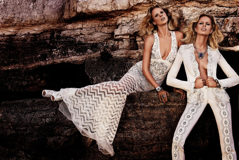Roberto Cavalli Takes Anne Vyalitsyna and Karolina Kurkova to Cannes for its Resort 2013 Campaign