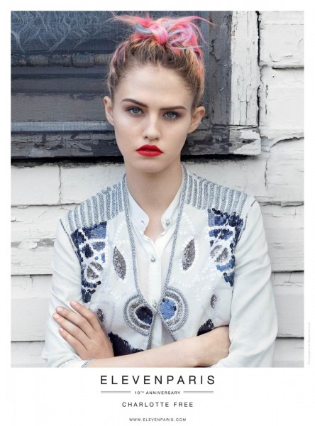 Charlotte Free and Lenny Kravitz Front Eleven Paris' Spring 2013 Campaign