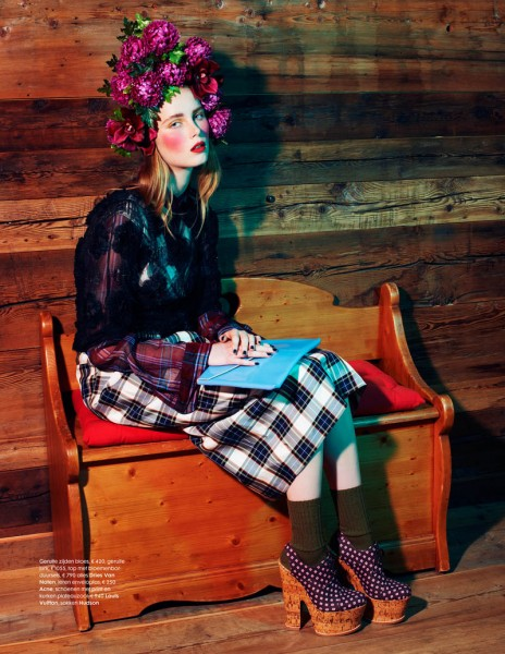 Rianne van Rompaey Gets Dolled Up for Elle Netherlands' February Issue