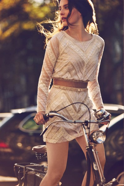 "Free People Features ""Girls on Bikes"" for its January 2013 Catalogue"