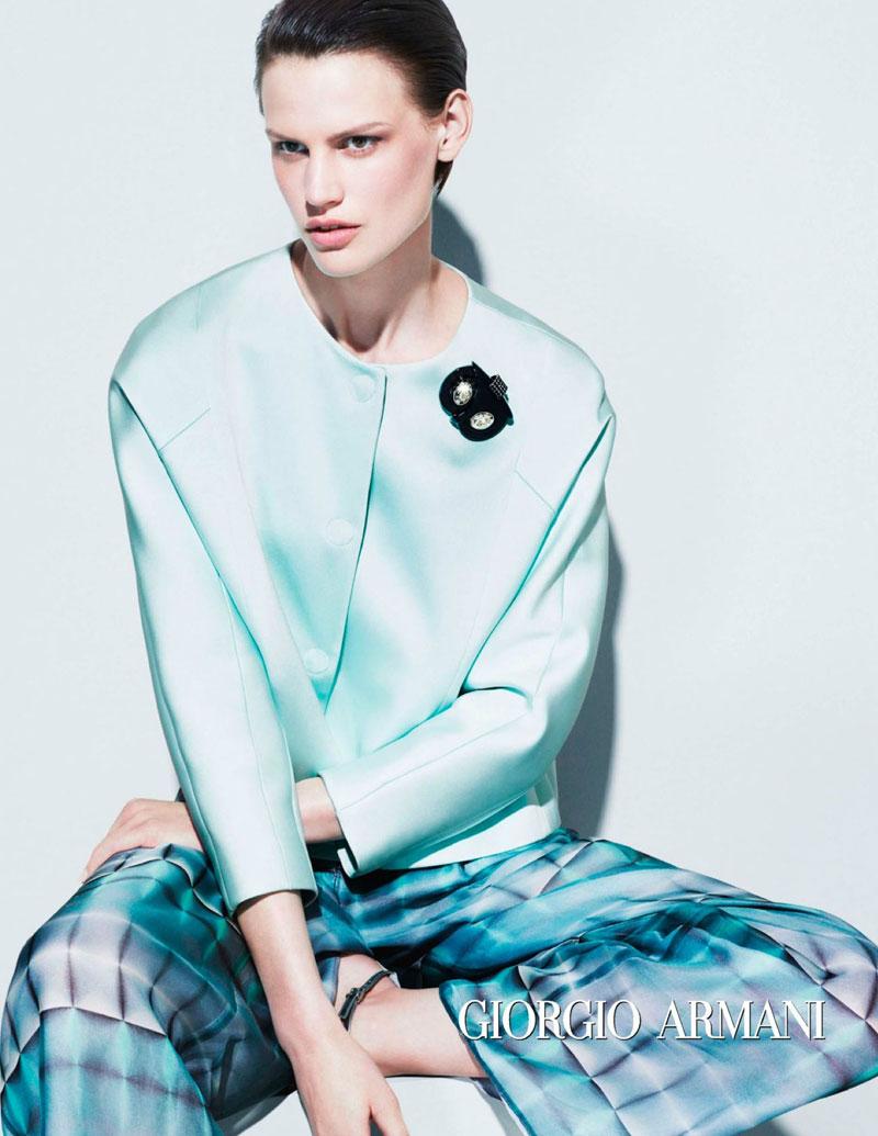 Saskia de Brauw Fronts the Giorgio Armani Spring 2013 Campaign by Mert & Marcus