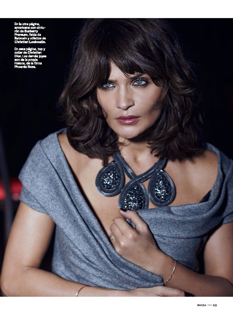 Helena Christensen Smolders in S Moda Cover Shoot by Eric Guillemain