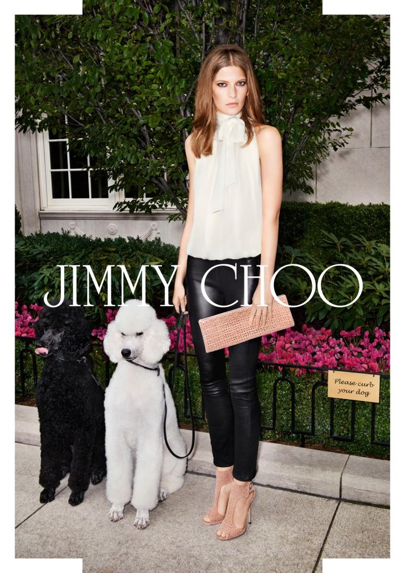 Valerija Kelava starred in Jimmy Choo's spring 2013 campaign