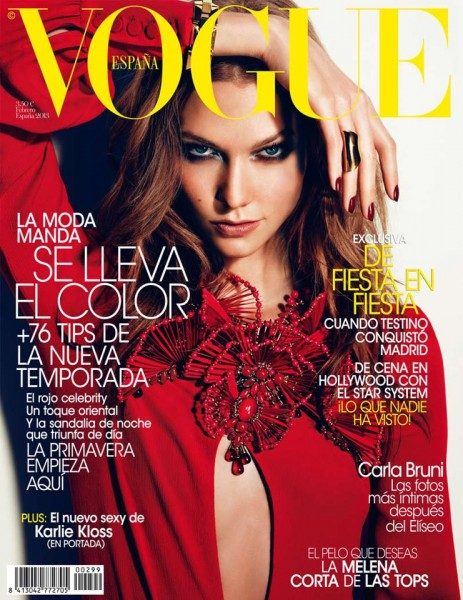 Karlie Kloss Smolders in Gucci for Vogue Spain's February 2013 Cover