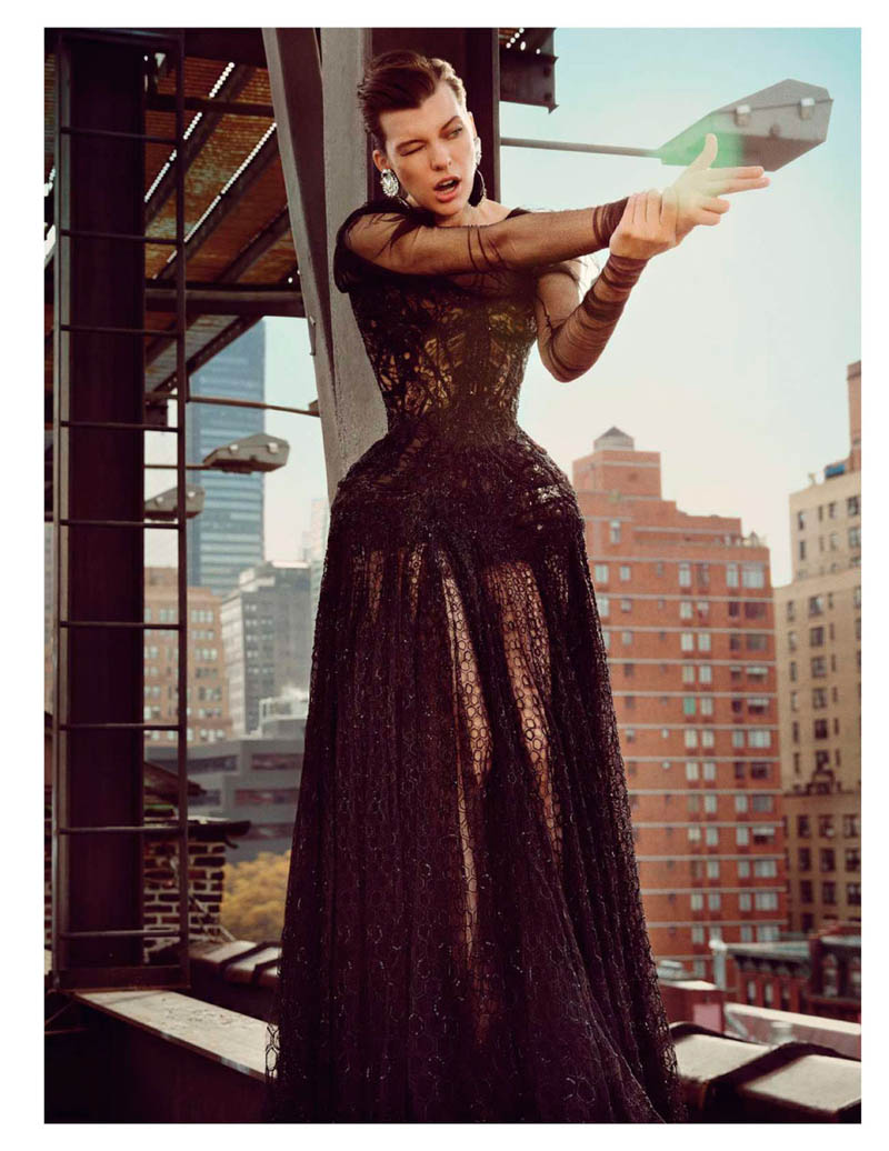 Milla Jovovich Takes on New York for Vogue Paris' February Issue by Inez & Vinoodh