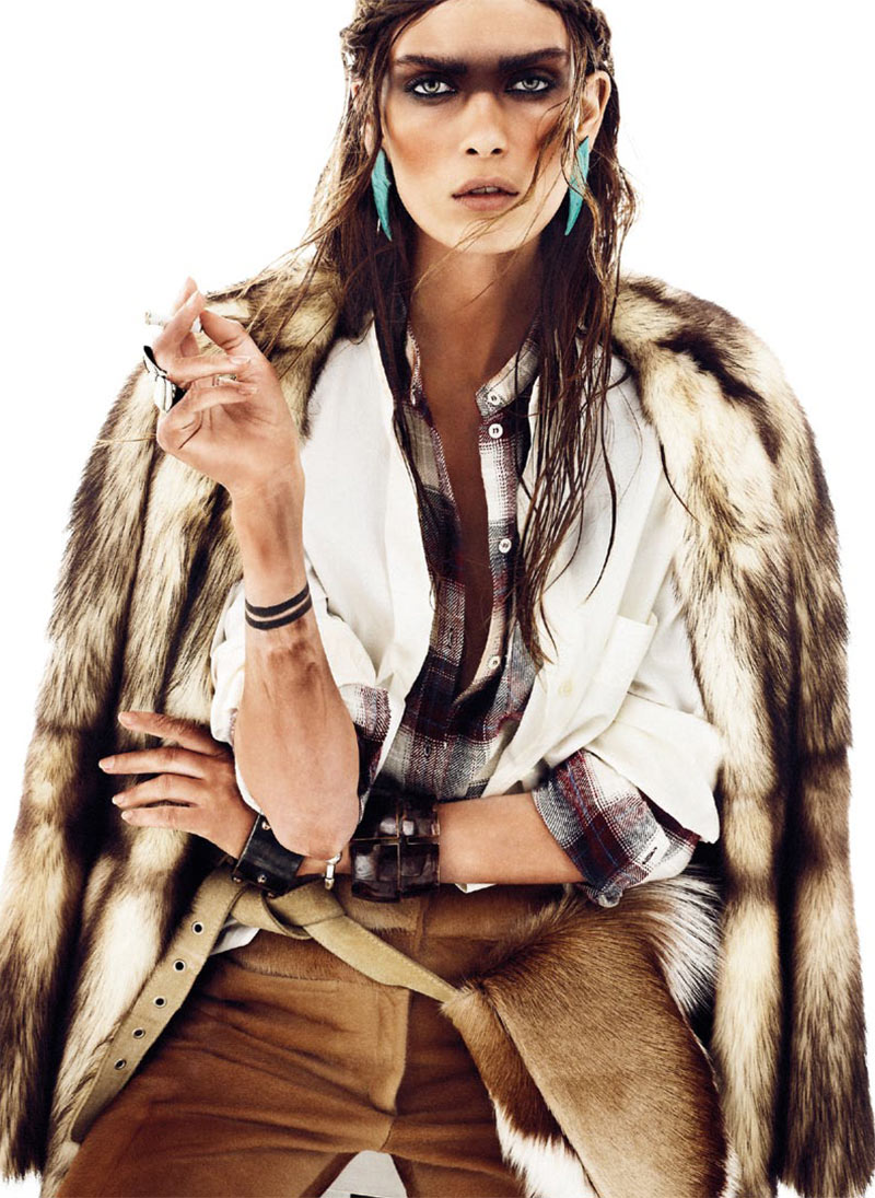 Maria Palm Dons Nomadic Style for S Moda's January 2013 Issue by Alvaro Beamud Cortes