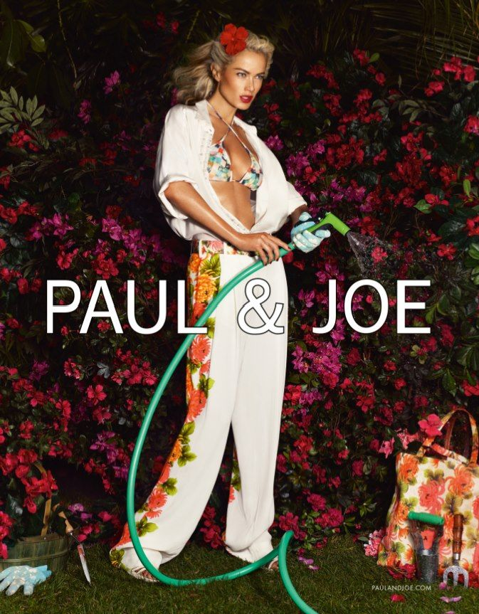 Carolyn Murphy Gardens in Style for Paul & Joe's Spring 2013 Campaign