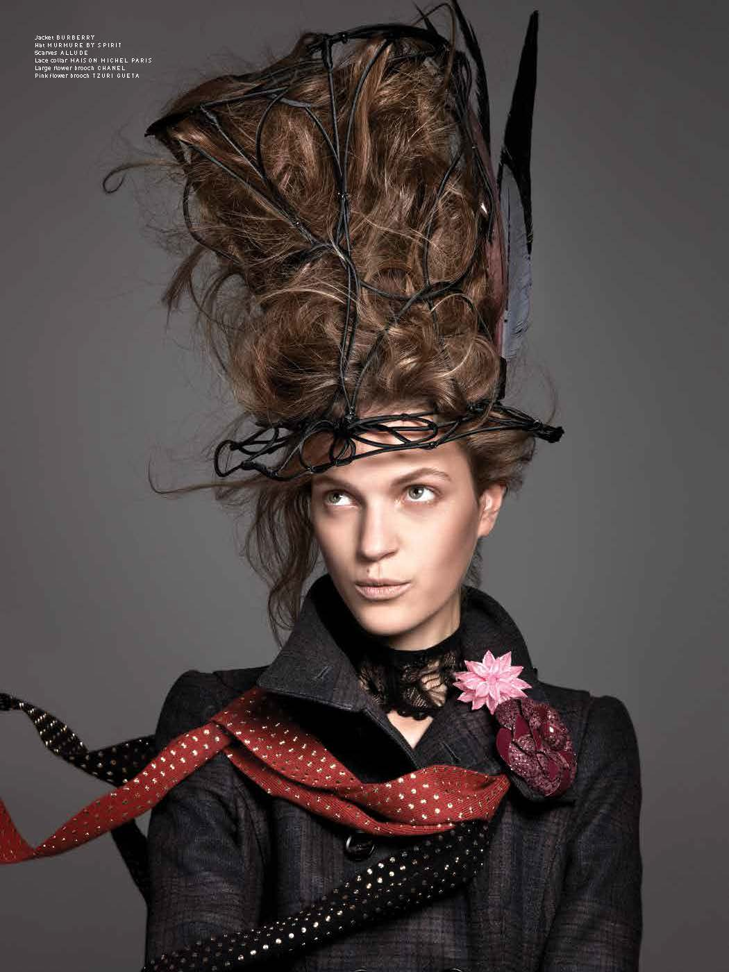 Magdalena Langrova Looks Mad as a Hatter for Pulp Magazine No. 6 by Ishi