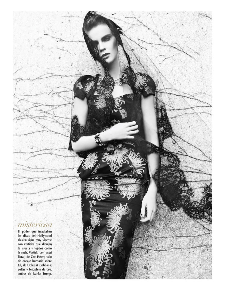 Kasia Evokes Hollywood Glamour for Vogue Latin America January 2013