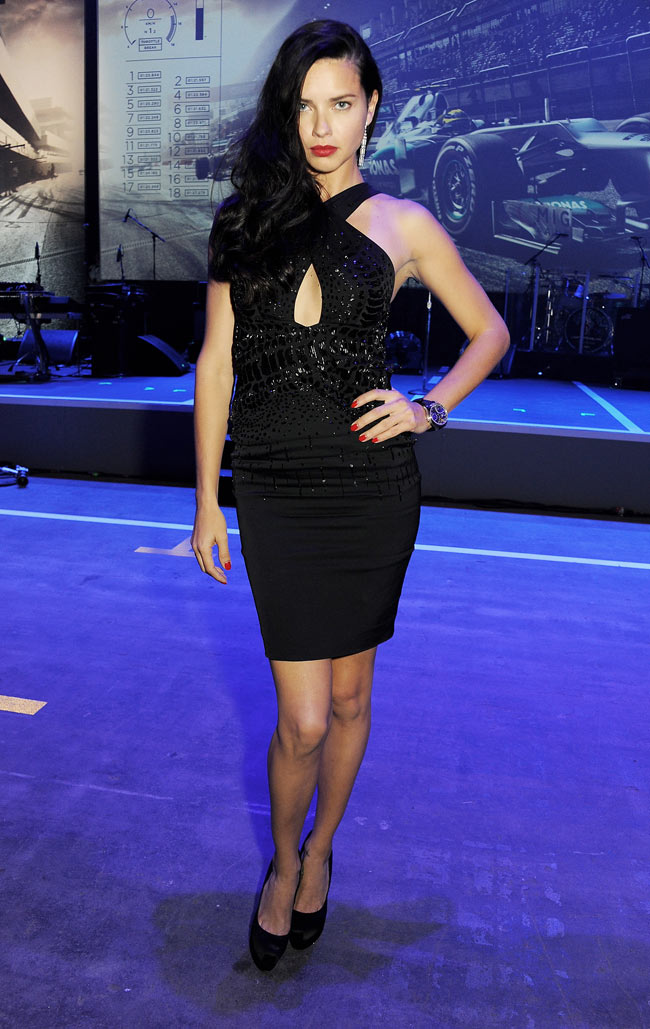 Adriana Lima in Roberto Cavalli at the IWC Schaffhausen Race Night Event