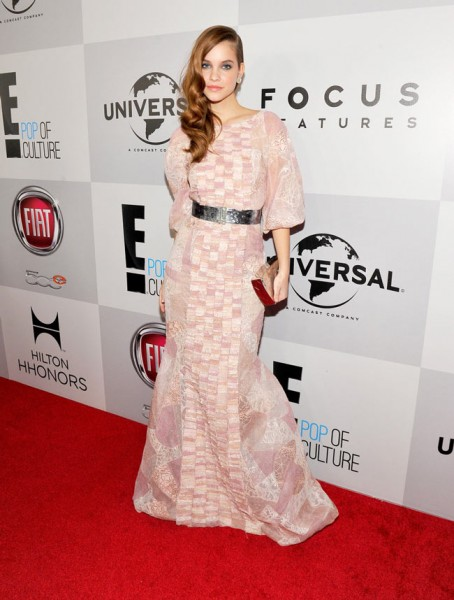 Barbara Palvin in Chanel Haute Couture at NBC Universal's 2013 Golden Globes After Party