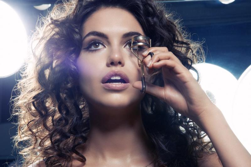 Samantha Basalari Primps and Preens in Beauty Shoot by Jeff Tse