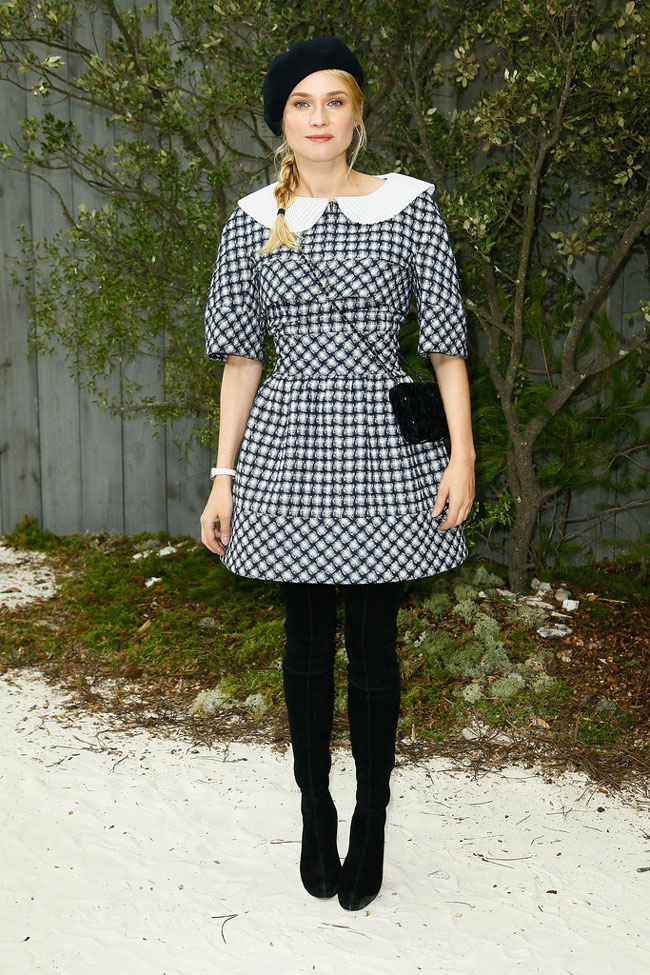 Diane Kruger in Chanel at the Chanel Haute Couture Spring/Summer 2013 Show
